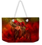 Woman In The Poppy Hat Weekender Tote Bag