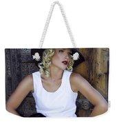 Woman In White Palm Springs Weekender Tote Bag