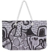 Woman Is Coming From The Farm With Firewood On Her Head Weekender Tote Bag