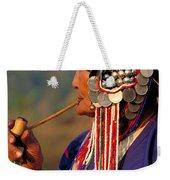 Akha Hill Tribe Woman  Thailand Weekender Tote Bag