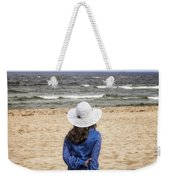 Woman On A Bench Weekender Tote Bag