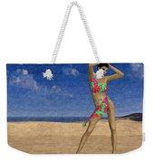 Woman On The Beach... Weekender Tote Bag