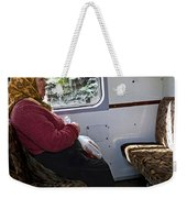 Woman On Train - Budapest Weekender Tote Bag