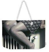 Woman On Window Sill Weekender Tote Bag by Joana Kruse