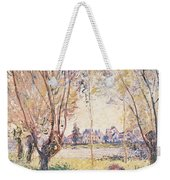 Woman Seated Under The Willows Weekender Tote Bag