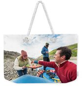 Woman Serving Appetizers, Alsek River Weekender Tote Bag