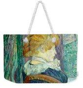 Woman Sitting In A Garden Weekender Tote Bag