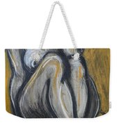Woman Sitting On Round Chair 2- Female Nude  Weekender Tote Bag