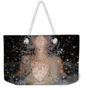 Woman Splashing Water Weekender Tote Bag