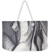 Woman Turning Her Back - Female Nude Weekender Tote Bag