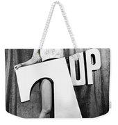 Woman With 7 Up Logo Weekender Tote Bag