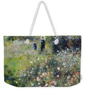 Woman With A Parasol In A Garden, 1875 Weekender Tote Bag