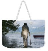 Woman With A Stick Weekender Tote Bag