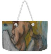 Woman With A Towel Weekender Tote Bag