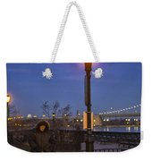Woman With Her Dogs Weekender Tote Bag