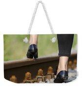 Woman With High Heels Shoes Weekender Tote Bag