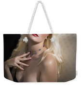 Woman With Nude Breast In Chair 1286.02 Weekender Tote Bag