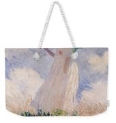 Woman With Parasol Turned To The Left Weekender Tote Bag