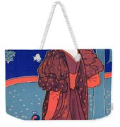 Woman With Peacocks Weekender Tote Bag