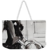Woman With Small Pitcher - Model #6 - Figure Series Weekender Tote Bag by Mona Edulesco