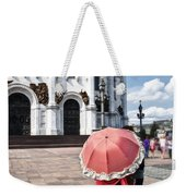 Woman With Umbrella - Moscow - Russia Weekender Tote Bag