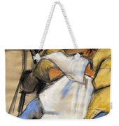 Woman With White Towel - Helene #9 - Figure Series Weekender Tote Bag