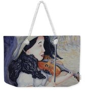 Woman's Autumnal Twilight Serenade Weekender Tote Bag