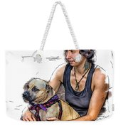Womans Best Friend Weekender Tote Bag by John Haldane