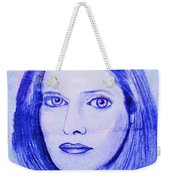 Womans Portrait  Weekender Tote Bag