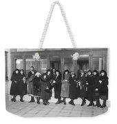 Women In A Bank Weekender Tote Bag