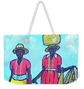 Women On Beach At Grenada Weekender Tote Bag