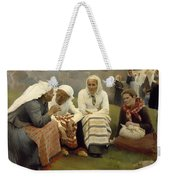 Women Outside The Church - Finland Weekender Tote Bag