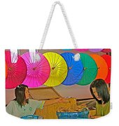 Women Working Together At Borsang Umbrella And Paper Factory In Chiang Mai-thailand Weekender Tote Bag