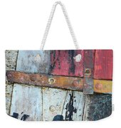 Wood And Metal Abstract Weekender Tote Bag by Jill Battaglia