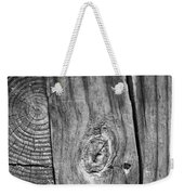 Wood Black And White Weekender Tote Bag