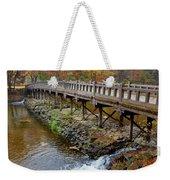 Wood Bridge And Autumn Color Weekender Tote Bag