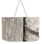 Wood Concrete And Steel Weekender Tote Bag