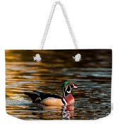Wood Duck At Morning Weekender Tote Bag