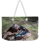 Wood Duck Couples Weekender Tote Bag