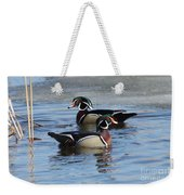 Wood Duck Drake Pair Weekender Tote Bag