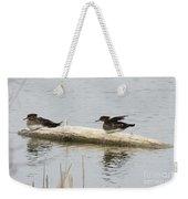Wood Duck Females On A Log  Weekender Tote Bag