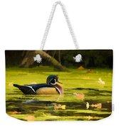 Wood Duck On Pond    Weekender Tote Bag