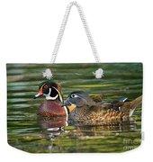 Wood Duck Pair Weekender Tote Bag