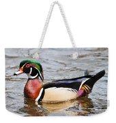 Wood Duck Profile Weekender Tote Bag