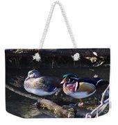 Wood Duck Reflections Weekender Tote Bag