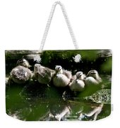 Wood Ducklings On A Log Weekender Tote Bag
