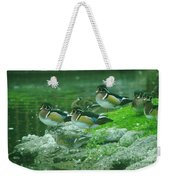 Wood Ducks Hanging Out Weekender Tote Bag