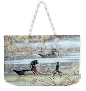 Wood Ducks In The Mist Weekender Tote Bag