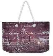 Wood Graffiti Weekender Tote Bag