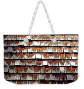 Wood Roof Shingles Weekender Tote Bag